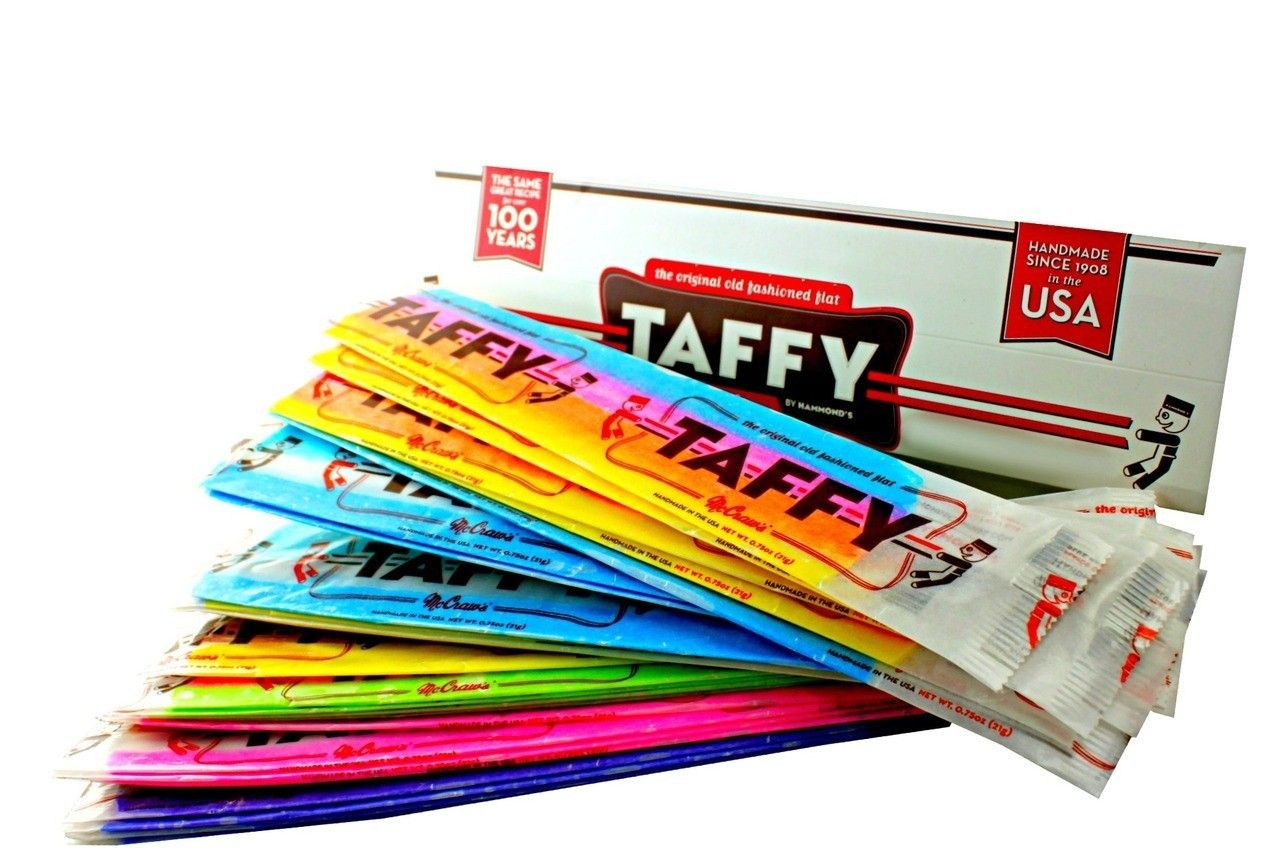 McCraw's Giant Old Fashioned Flat Taffy Asstd- 12 pc- Orignal Classic sinc  1908