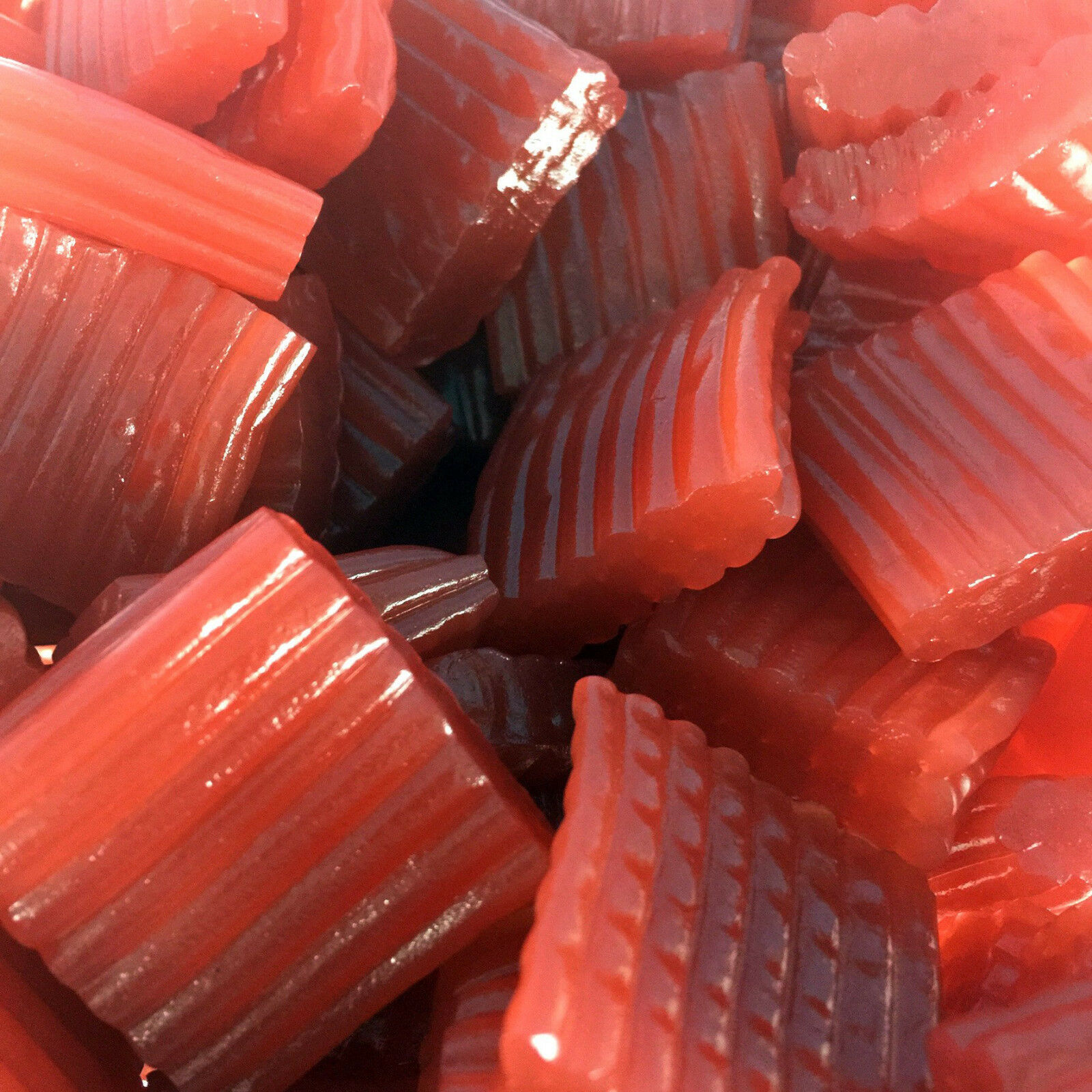 Gustaf Strawberry Red Licorice Tire Tracks 1 Lbs Rich Tasty Satsfying Nuts N More